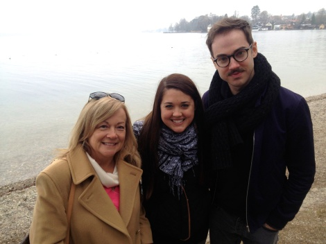 Lake Starnberg with my mom and brother when they came to visit