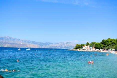 nice view of the Croatian coastline